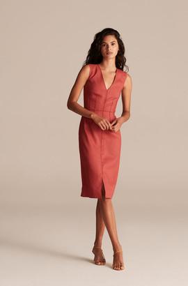 Rebecca Taylor Tailored Linen Suit Dress