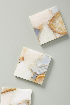 Anthropologie Morgan Agate Coaster By in White Size COASTERS