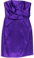 Philosophy di Alberta Ferretti Gathered Silk Dress