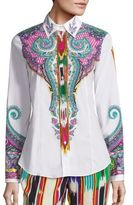 Etro Printed Button Front Top