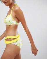 Vero Moda Ruffle Bikini Bottom With Cut Out