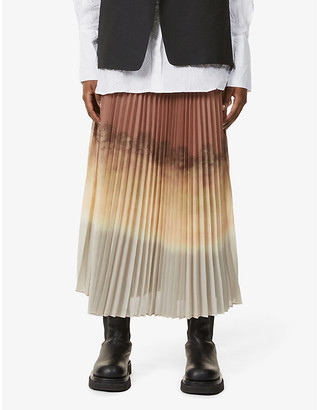 BITE Studios Pleated recycled polyester midi skirt