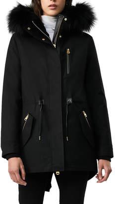 Mackage Chara Fur-Hood Semi-Fit Raincoat