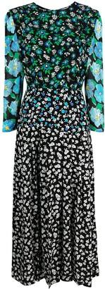 Rixo 'Jazz' Floral midi dress