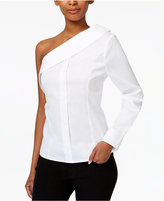 Bar III Asymmetrical Off-The-Shoulder Blouse, Only at Macy's