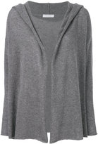Cruciani hooded open front cardigan