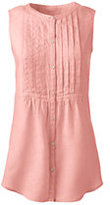 Classic Women's Sleeveless Linen Top-Vibrant Magenta
