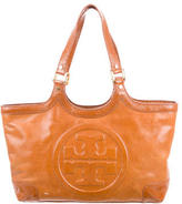 Tory Burch Logo Leather Tote