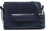 Halston Paneled Suede And Leather Shoulder Bag