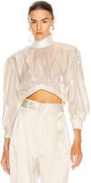 RAISA&VANESSA Velvet Mini Top in White | FWRD