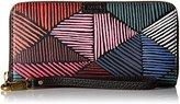 Fossil Emma Large Zip Wallet - Pink/Multi Wallet, One Size