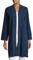 Eileen Fisher Organic Stretch-Cotton Denim Jacket, Midnight, Petite