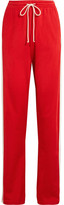 MM6 MAISON MARGIELA Paneled Stretch-jersey Track Pants - Red