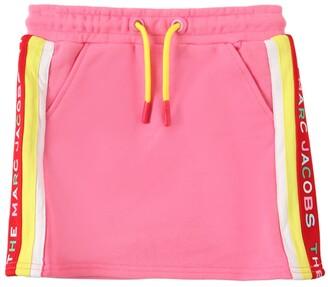 Little Marc Jacobs Cotton Sweat Skirt W/ Logo Bands