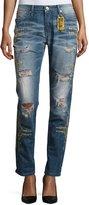Robin's Jeans Distressed Boyfriend Denim Jeans, Indigo