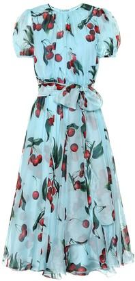 Dolce & Gabbana Exclusive to Mytheresa cherry printed silk dress