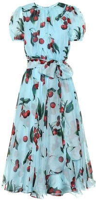 Dolce & Gabbana Exclusive to Mytheresa Cherry printed silk dress