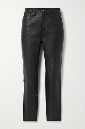 Rag & Bone Nina Skinny Leather Pants - Black