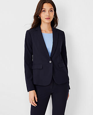 Ann Taylor The Tall One-Button Blazer in Seasonless Stretch