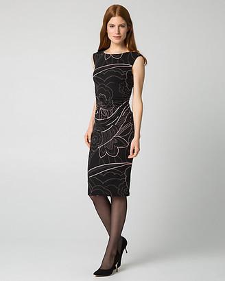 Le Château Floral Print Knit Shift Dress