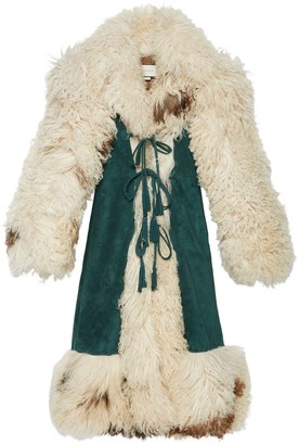 Gucci Suede coat with shearling trim