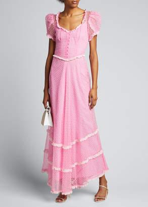 LoveShackFancy Odessa Embroidered Maxi Dress