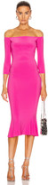 Norma Kamali for FWRD Off Shoulder Fishtail Dress in Orchid Pink   FWRD