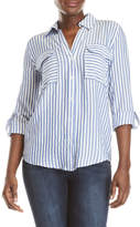 Blu Pepper Striped Collared Shirt