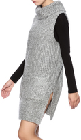Lush Grey Turtleneck Sweater Dress