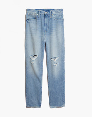 Madewell The Momjean in Gilford Wash: Ripped Edition