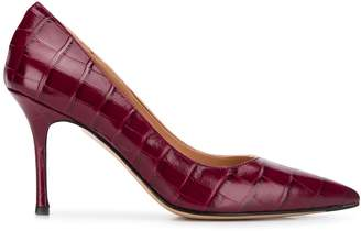 The Seller pointed croc-effect pumps