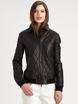 Burberry Eastburn Leather Jacket
