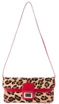 Kara Ross Lizard-Trimmed Ponyhair Shoulder Bag