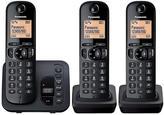 Panasonic TGC-223EB Cordless Telephone With Answering Machine And Nuisance Call Block - Trio