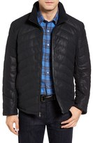 Men's Robert Comstock Quilted Down Leather Jacket