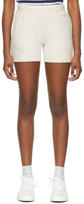 Rag & Bone Off-White Terry City Sweat Shorts