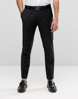 Sisley Slim Fit Suit Pant with All Over Ditsy Triangle Print