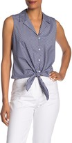 Lafayette 148 New York Wynter Striped Tie-Front Blouse
