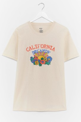 Nasty Gal Womens California Dreamin' Relaxed Graphic Tee - Beige - S