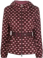 Moncler patterned zip-front jacket