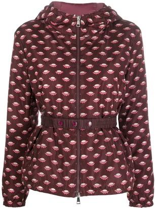 Moncler patterned zip-front jacket