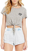 Billabong Chill Side Tie-Front Graphic Tee