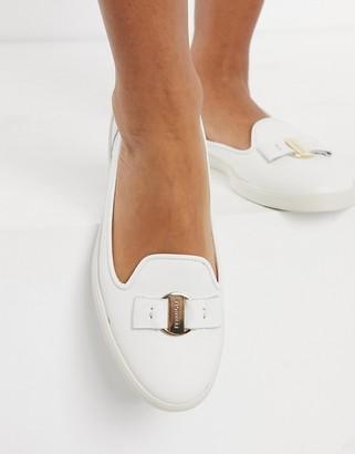 Fiorelli Mia leather loafers in cream