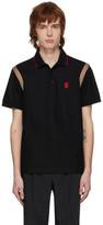 Burberry Black Kian Icon Stripe Polo