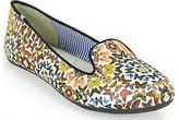 Charles Philip Yasmin 10 - Satin Lip Based Flat in Butterfly Kaleidoscope Print