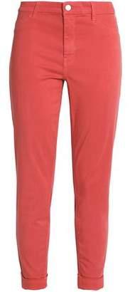 J Brand Anja Cropped Stretch-sateen Skinny Pants