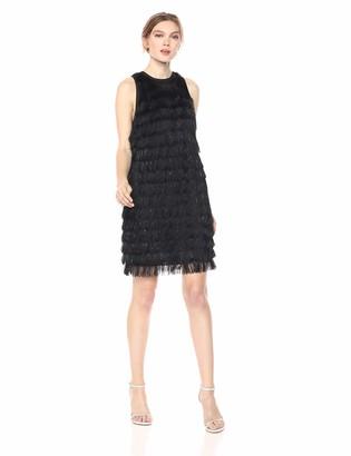 AVEC LES FILLES Women's Fringe Shift Dress