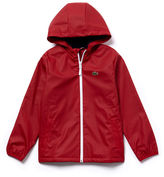 Lacoste Boys' Water-resistant Technical Jersey Parka