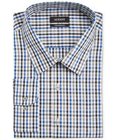 Alfani Black Men's Big and Tall Classic Fit Blue Multi Gingham Dress Shirt, Only at Macy's
