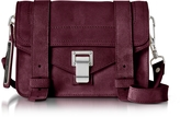 Proenza Schouler PS1 Mini Dark Grape Suede Crossbody Bag